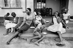 Gloria, Miriam and Monica at their Christian orphanage