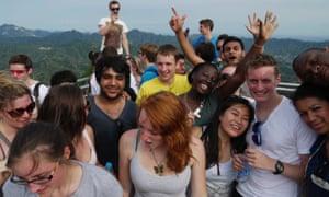 Bridget Minamore and friends in China