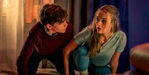 Levi Miller and Olivia DeJonge in Better Watch Out.