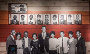 Mississippi Civil Rights Museum. Imprisoned after their read-in at the Jackson Municipal Library, the Tougaloo Nine, along with their respective mugshots, are immortalised in one of the galleries.