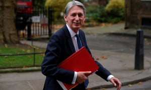 Philip Hammond holding a red file