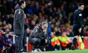 Marcelo Bielsa collects his thoughts.