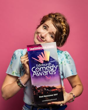 Natalie Palamides with her best newcomer award.