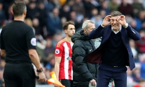 A frustrated Slaven Bilic during the game.