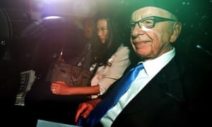 Rupert Murdoch on his way to give evidence to the Leveson inquiry in 2012.