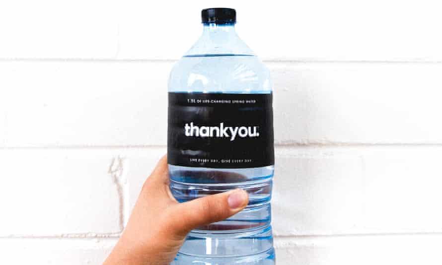 A bottle of Thankyou water