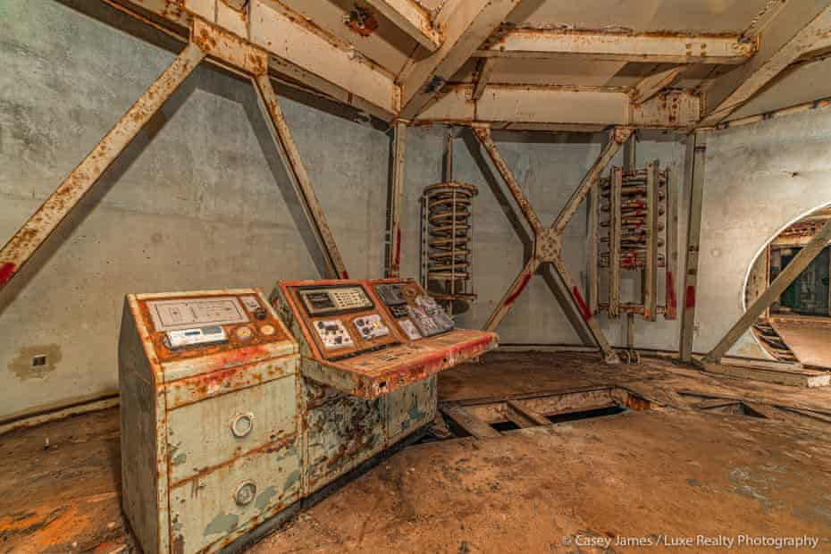 The inside of the decommissioned Titan nuclear missile silo in southern Arizona.