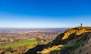 A view of Cheltenham Spa from the Cotswolds.