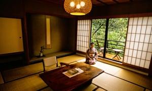 Guest room at the Kayotei ryokan, Yamanaka.