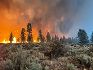 Oregon, US: The Bootleg fire burns in south-east Oregon, whipped up by dry conditions and strengthening winds.