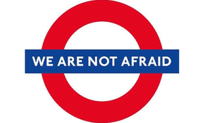 #WeAreNotAfraid hashtag was trending in London after the attack on Westminster.