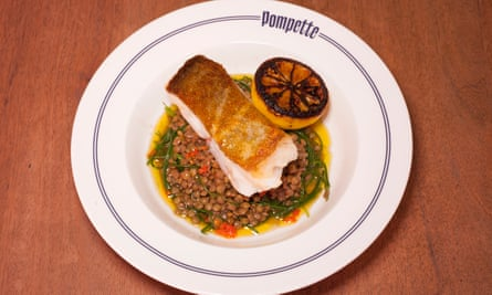 'Snowy': hake with lentils