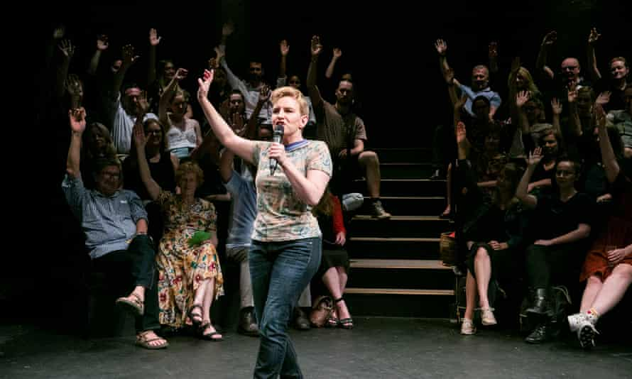 Kate Mulvany in Every Brilliant Thing at Belvoir Theatre, 2019