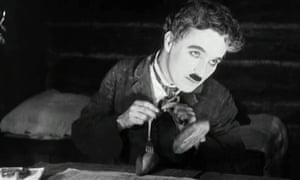 "Charlie Chaplin's ""dance of the rolls"" from The Gold Rush."
