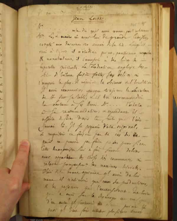 A manuscript discovered in the British Library, of an anonymous friend's recollections of the English philosopher John Locke. Dr Felix Waldmann has identified the speaker as James Tyrrell