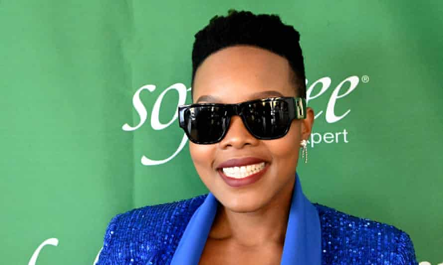 Nomcebo Zikode at a music awards celebration on 12 June in Soweto, South Africa