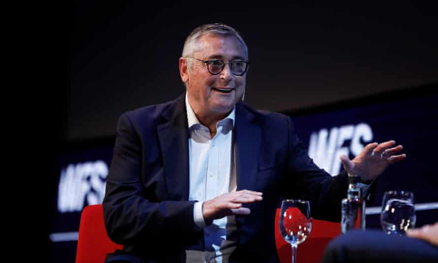 Michael Robinson at the World Football Summit in Madrid in September 2019.