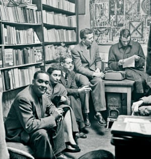 Richard and Ellen Wright, George Whitman, Max Steele and Peter Matthiessen at Shakespeare and Company