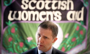 Scottish justice secretary Michael Matheson during a visit to the head office of Scottish Women's Aid in Edinburgh.