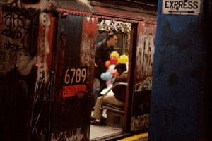Balloons in the subway, 1984