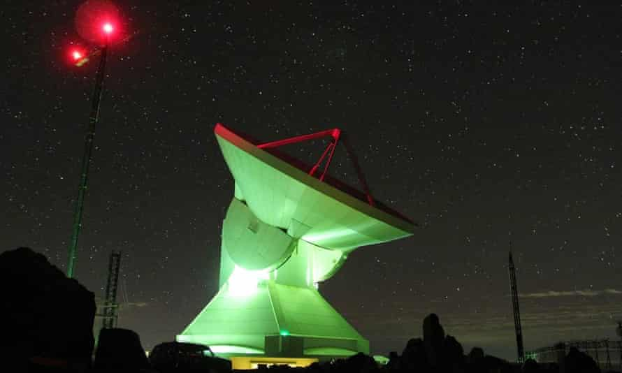The latest generation of satellite telescopes at a facility on Sierra Negra in Mexico.