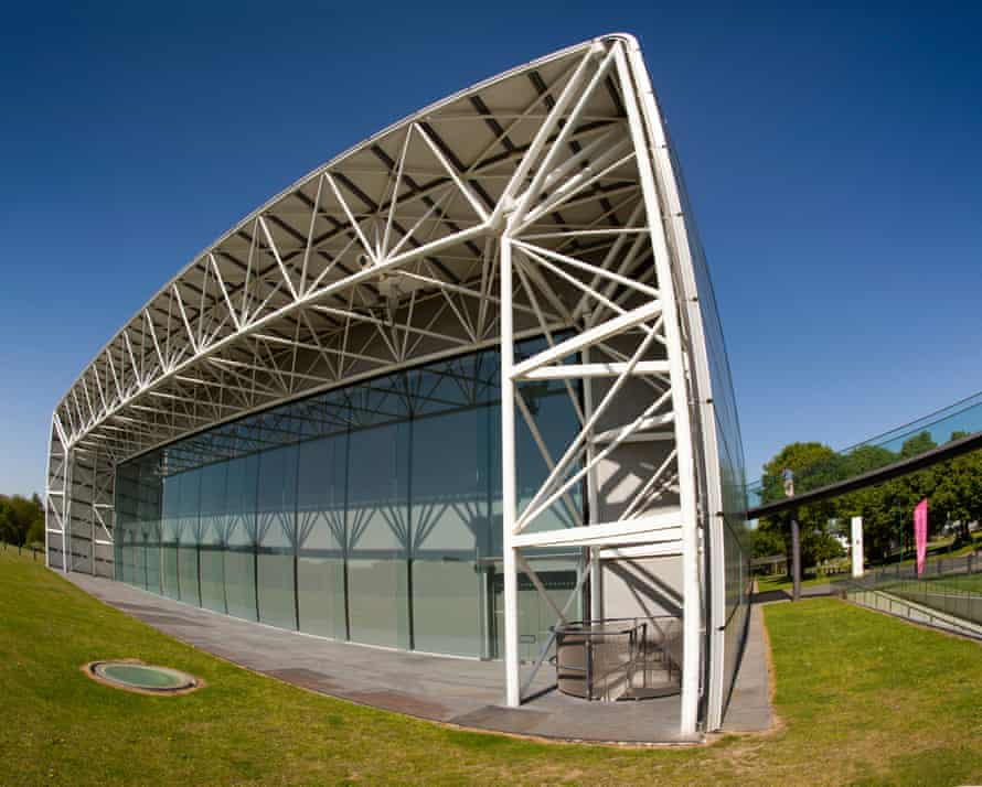 Avengers assemble at the Norman Foster-designed Sainsbury Centre for Visual Arts in, um, Norwich.
