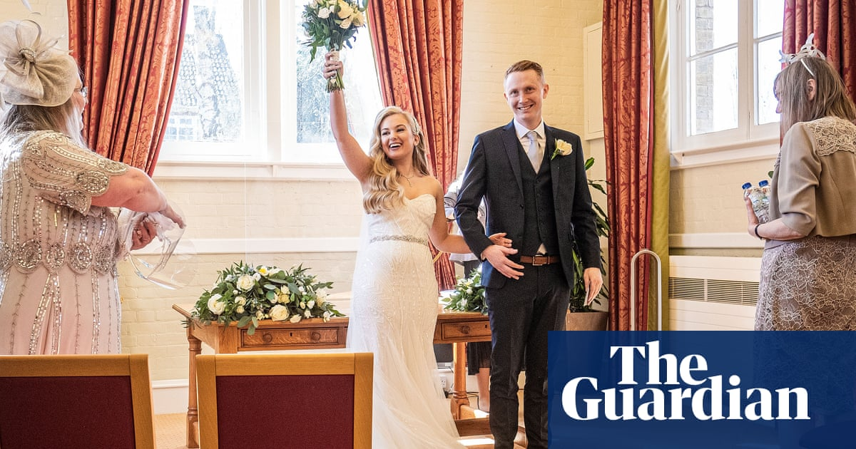 'You just have to be creative': wedding couples in England tie the knot as lockdown eases