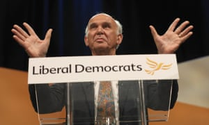 Vince Cable gives his speech in Bournemouth.