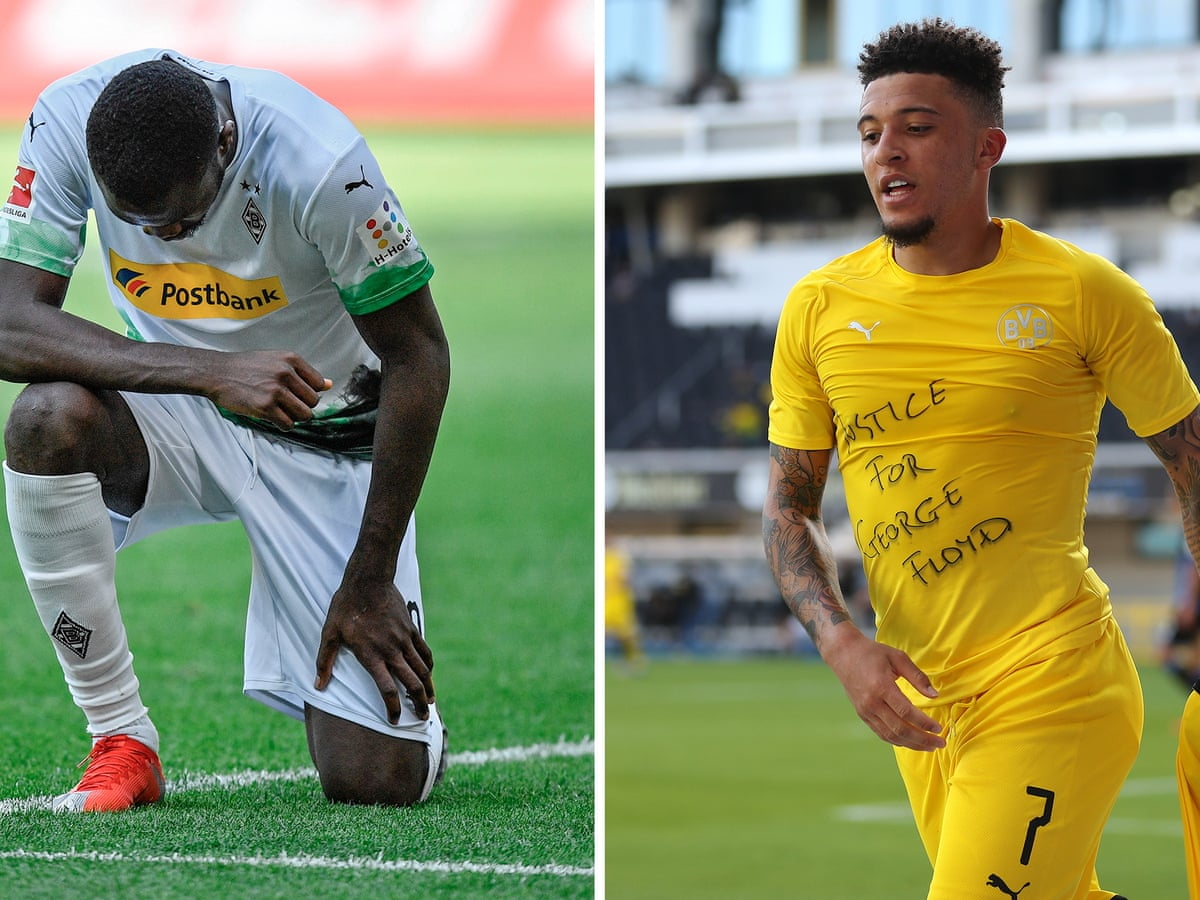 Marcus Thuram and Jadon Sancho both pay tribute to George Floyd ...