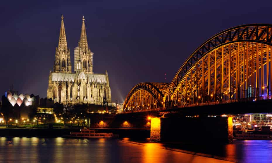 the Hohenzollern Bridge and Cologne Cathedral.