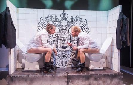 Pavel Haradnitski and Andrei Urazau in Burning Doors