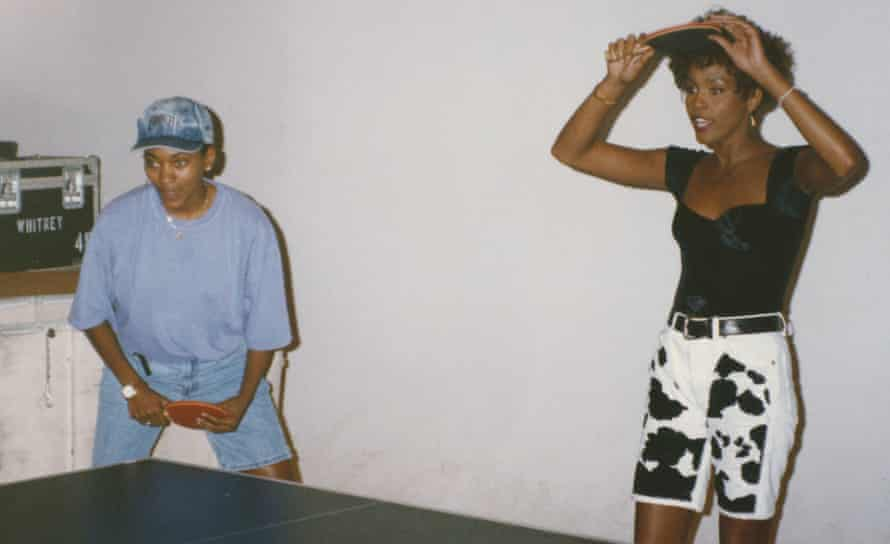 Whitney Houston and Robyn Crawford playing table tennis, from the book A Song for You: My Life with Whitney Houston by Robyn Crawford published by Dutton