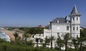 General view of the house that belongs to Kirill Shamalov in Biarritz, southwestern France.