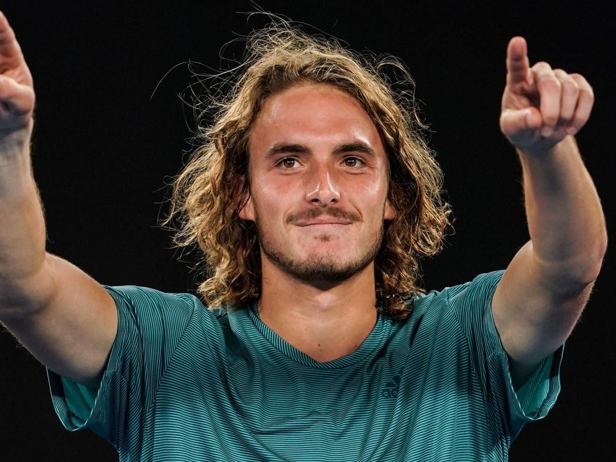 Stefanos Tsitsipas Stuns Roger Federer In Four Set Australian Open Thriller Sport The Guardian