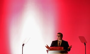 Tom Watson addressing the Labour conference.