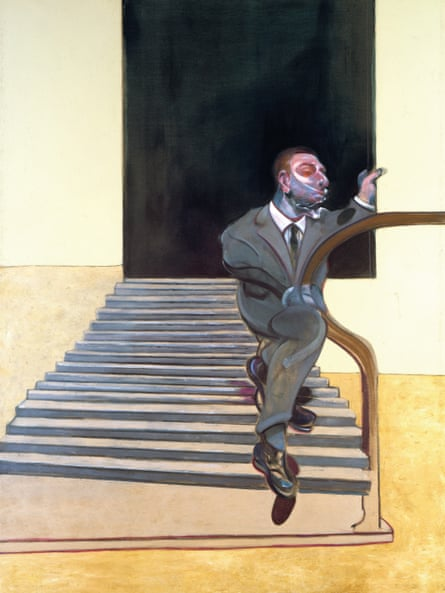Francis Bacon: Portrait of a Man Walking Down Steps (1972)