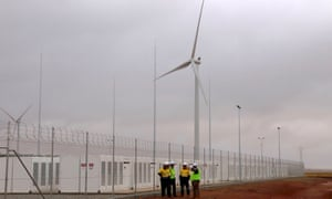The Hornsdale windfarm, which is paired with Tesla's lithium-ion battery in South Australia, which is on track to make back almost a third of its construction costs in its first year.