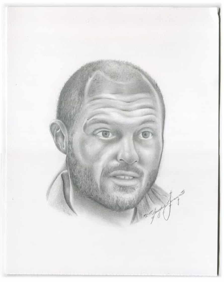 Ryan Shapiro, CEO of JPay, drawn by prisoner Thong Vahn Louangrath.