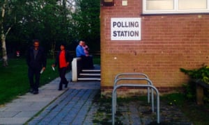 The polling station at Southgate West community centre in Crawley.