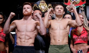 Canelo Alvarez, left, and Gennady Golovkin fought to a controversial draw in 2017