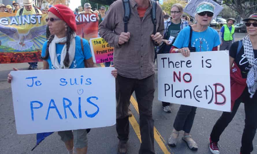 Climate march in Oakland, California in the lead-up to COP 21 conference in Paris.