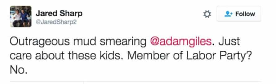 Tweet from Jared Sharp.