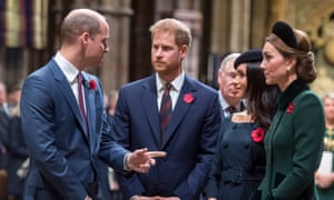 Prince William, Prince Harry, Meghan, Duchess of Sussex, and Catherine, Duchess of Cambridge, in 2018