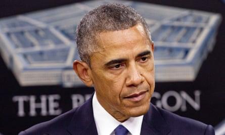 Barack Obama spoke on a rare visit to the Pentagon