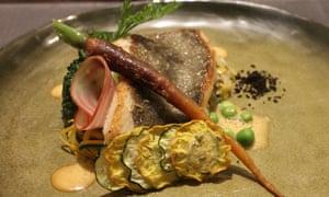 fish dish at Auberge de la Marine, Le Crotoy