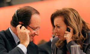 François Hollande with his former partner, journalist Valérie Trierweiler, December 2011