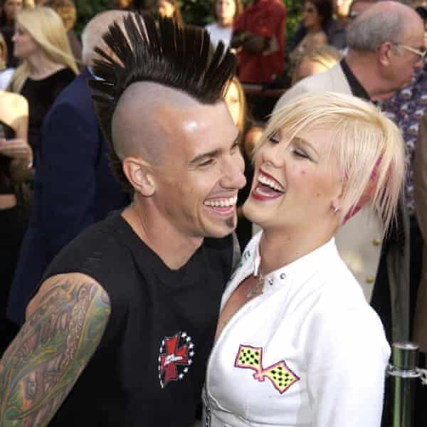 Pink with husband Carey Hart