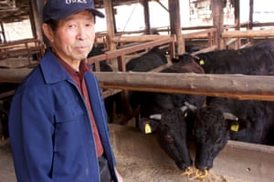 Noboru Tamogami, a cattle farmer in Fukushima.