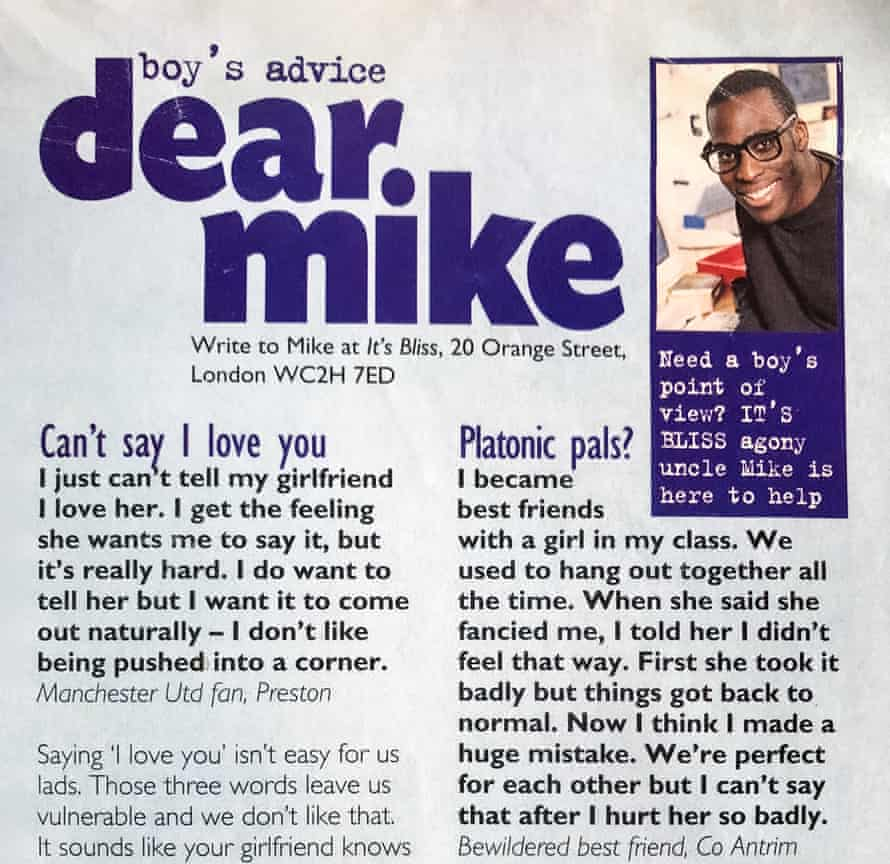 'If they didn't like what you wrote, you'd be dead to them'… Mike Gayle's column in Bliss.