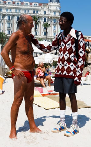 New Gucci menswear Cruise 2019 look book shot by Martin Parr in Cannes